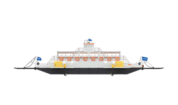 Damen Modular Ferry for 200 passengers and 18 cars
