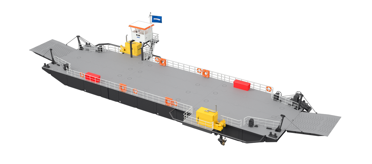 Modular Ferry with 46.4 m length and 15 m beam