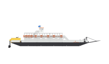Damen Modular Ferry for 150 passengers and 20 cars