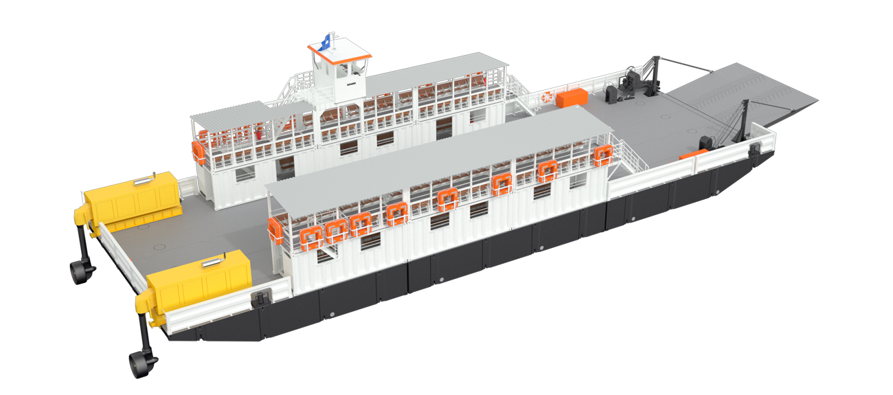 Modular Ferry with 42 m length and 12.3 m beam