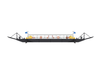 Modular Ferry for 150 passengers and 14 cars