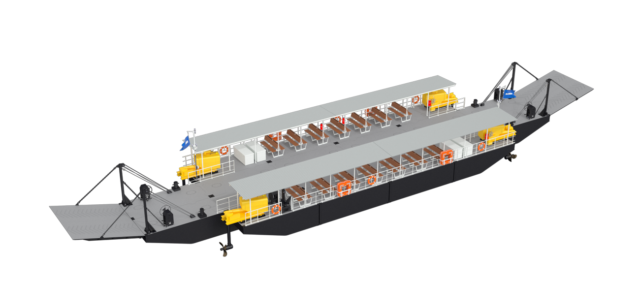 The Damen Modular Ferries can easily be transported to remote areas and allow assembly on site