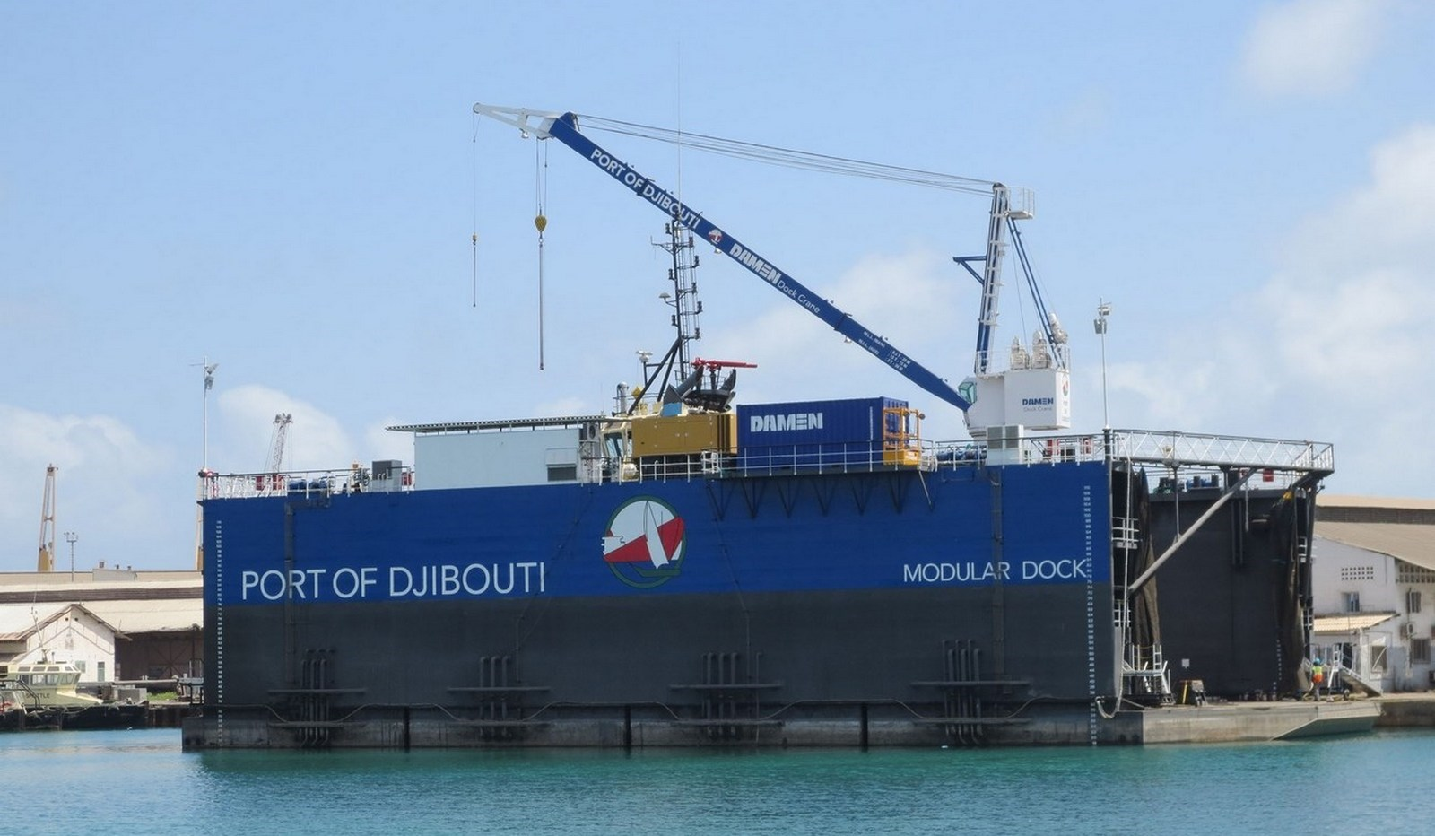 Modular Floating Drydock 5020 is for vessels up to 1 500 and up to