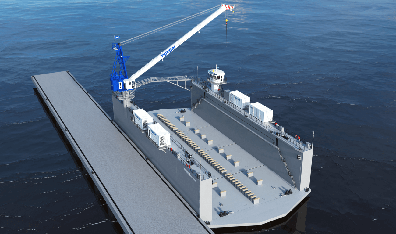 Modular Floating Drydock 6020 for vessels up to 1,700 t and up to 50 tonnes per metre keel load