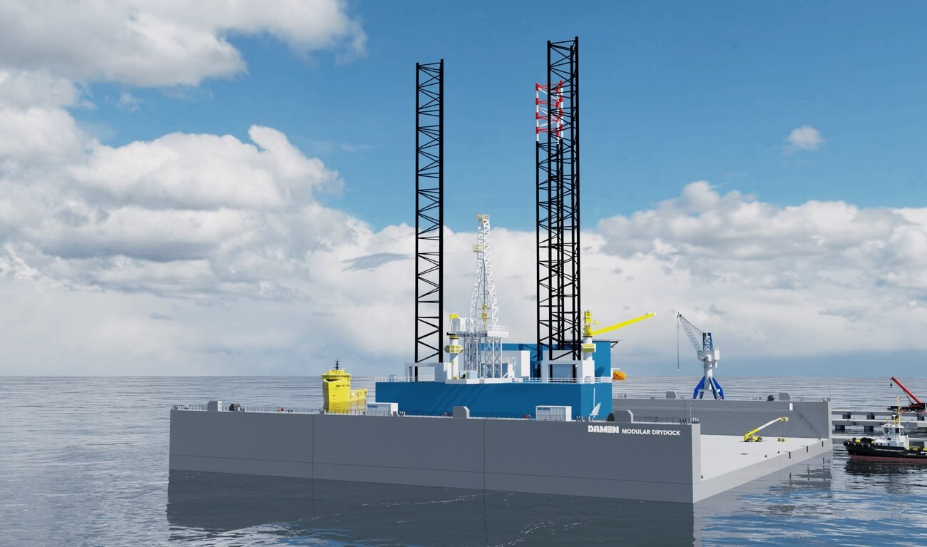 Modular Offshore Unit Drydock for offshore platforms/drilling rigs