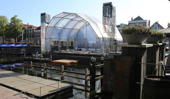 Modular Concert Pontoon is a solution for the cities with water channels.