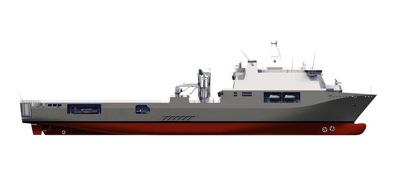 The Damen Joint Support Ship fulfils the operational requirements of the Royal Netherlands Navy for a robust multifunctional platform.