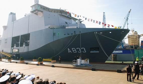 The new Joint Support Ship for the Royal Netherlands Navy