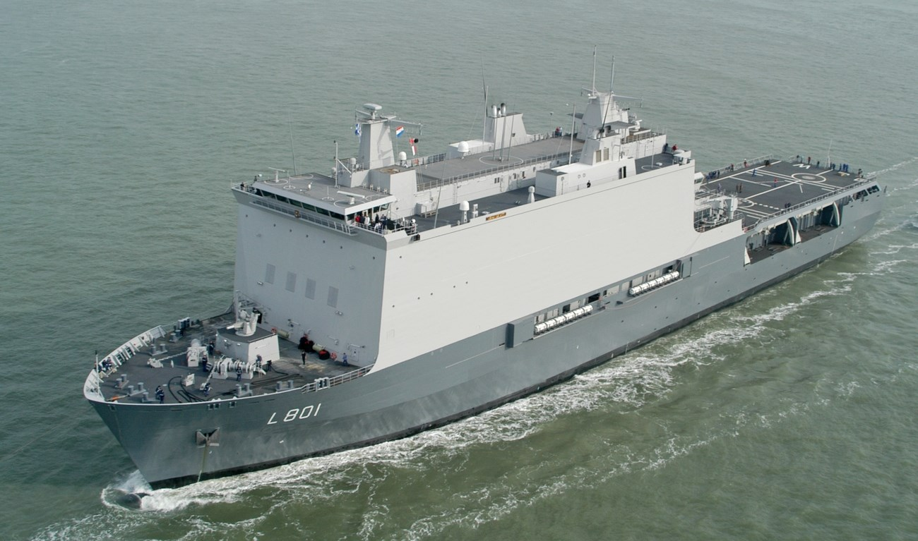 Damen naval amphibious support vessels are designed for strategic transport and amphibious operations.