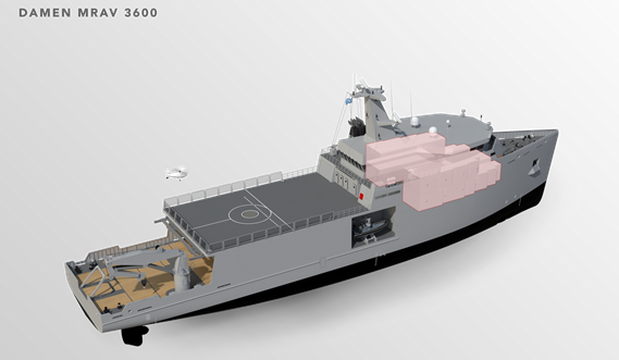 Multi Role Auxiliary Vessel 3600 - Accommodation