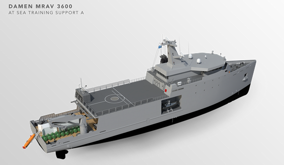 Multi Role Auxiliary Vessel 3600 - Mission: at Sea Training Support A