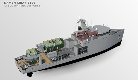 Multi Role Auxiliary Vessel 3600 - Mission: at Sea Training Support B - Maindeck