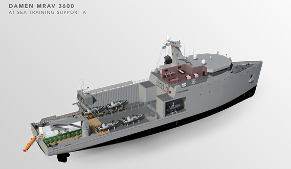 Multi Role Auxiliary Vessel 3600 - Mission: at Sea Training Support A - Maindeck