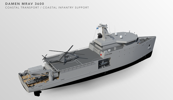 Multi Role Auxiliary Vessel 3600 - Mission: Coastal Transport/ Coastal Infantry Support