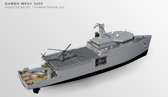 Multi Role Auxiliary Vessel 3600 - Mission: Disaster Relief/ Humanitarian Aid