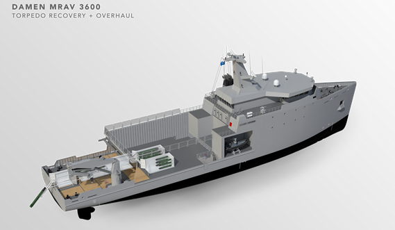 Multi Role Auxiliary Vessel 3600 - Mission: Torpedo Recovery & Overhaul - Maindeck