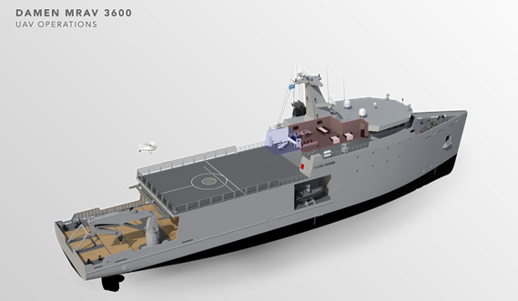 Multi Role Auxiliary Vessel 3600 - Mission: UAV Operations