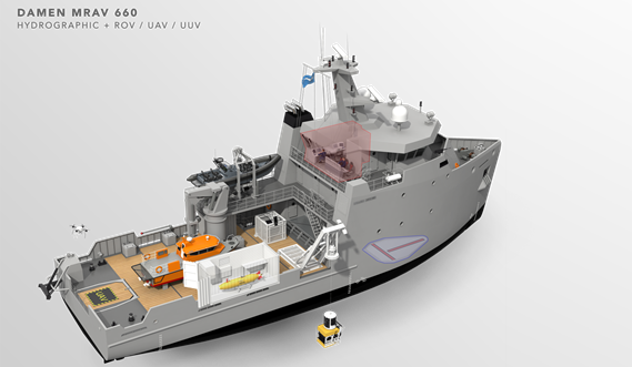 Multi Role Auxiliary Vessel 1600 - Mission: Hydrographic & ROV/ UAV\ UUV