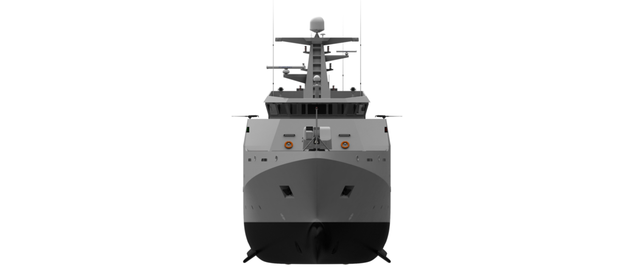 The Damen Offshore Patrol Vessel is optimised to fulfil all duties including military security, military safety or humanitarian tasks.