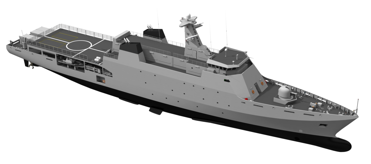 The Damen Offshore Patrol Vessel is optimised to fulfil all duties ...