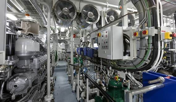 Damen Offshore Patrol Vessel 950 - main engine room