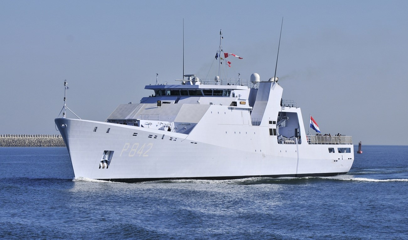 The Damen Offshore Patrol Vessel for a wide variety of tasks in regions where there is a low-level of threat.
