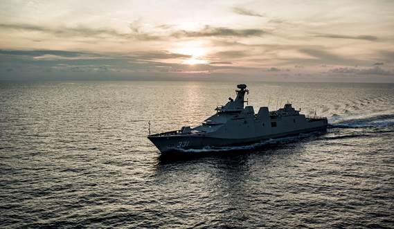 PKR frigates are being been built using a modular concept at Damen Schelde Naval Shipbuilding (DSNS) in the Netherlands and PT PAL shipyard in Indonesia