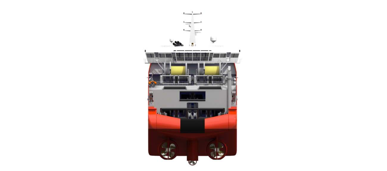 The vessel design provides high level of safety and comfort.