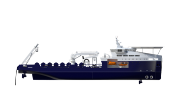 The Damen Infield Cable Laying vessel is specifically designed for the Offshore wind market.