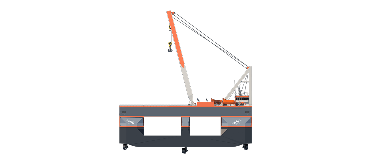Compact Semi Submersible Lift Vessel 8655 - side view
