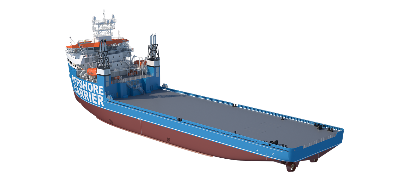 The Damen Offshore Carrier is designed as a transportation vessel with DP2/DP3 capabilities