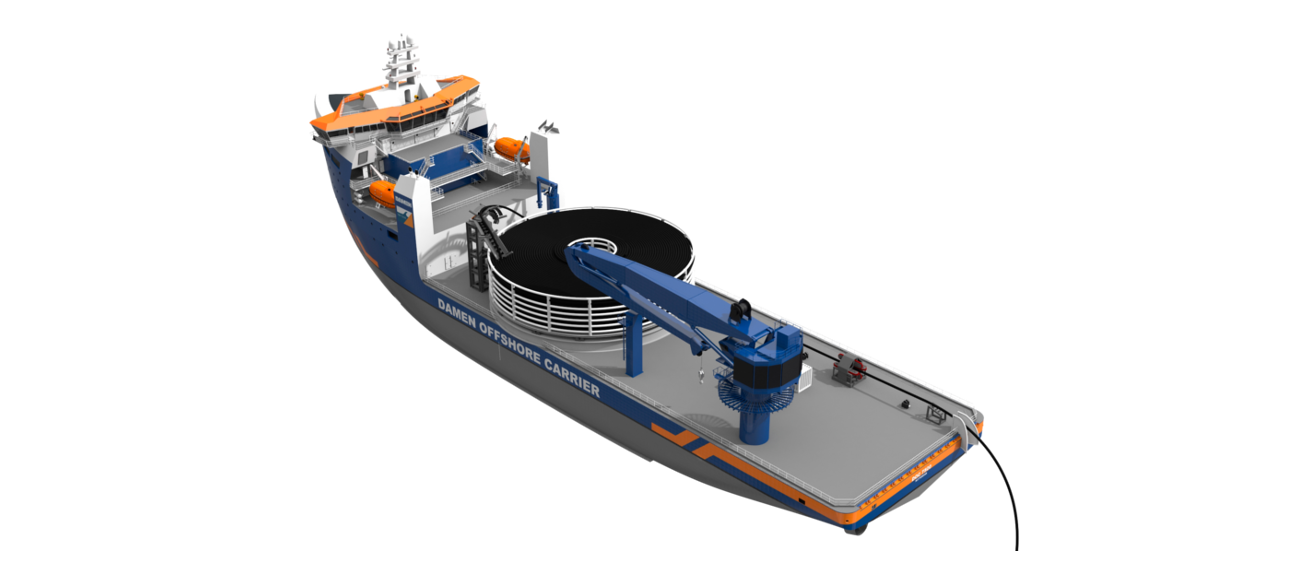 The vessel can be outfitted with all necessary installation equipment and extra accommodation.