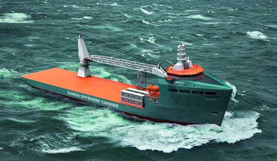 This Offshore Carrier replaces the well known tug barge operations, with a multi role, multi tasking vessel