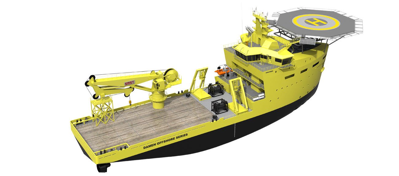 Damen construction vessels are specifically designed to fill the gap between larger workboats and high-end deep water construction vessels.