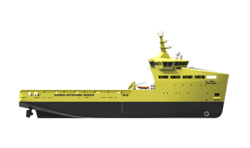 Platform Supply Vessel 5000CD with excellent fuel efficiency