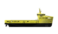 The vessel design provides safe and comfortable working environment.