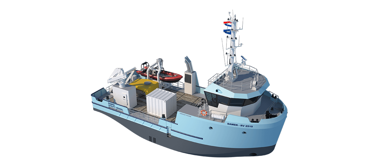 Highly flexible and adaptable Damen Research Vessel 2510