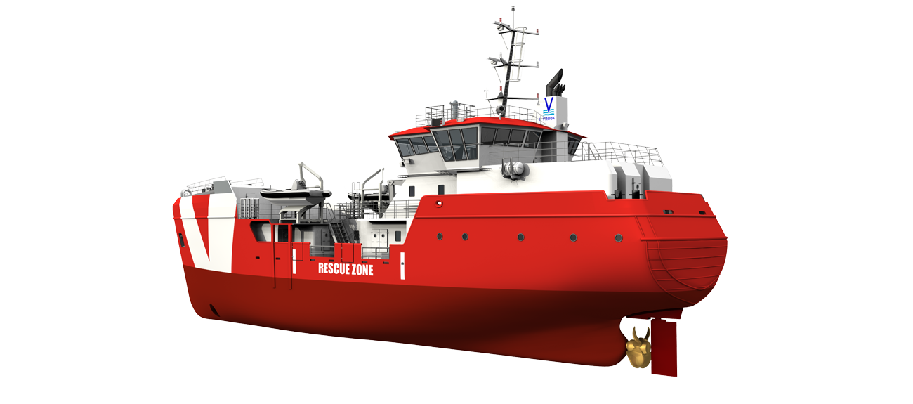 The standby vessels are fitted with a highly effective and economical propulsion system