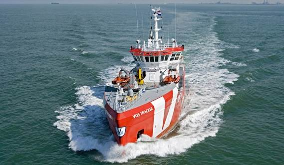 The search vessels are fitted with a highly effective and economical propulsion system and with dedicated safety standby equipment.