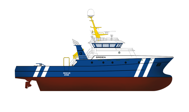 Offshore vessels with a dedicated design for the support of seismic research services