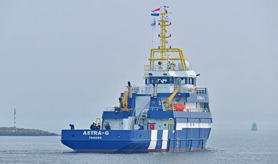 The delivery of the 'Astra-G' and her sister ship 'Aquarius-G' to offshore services company Rederij Groen