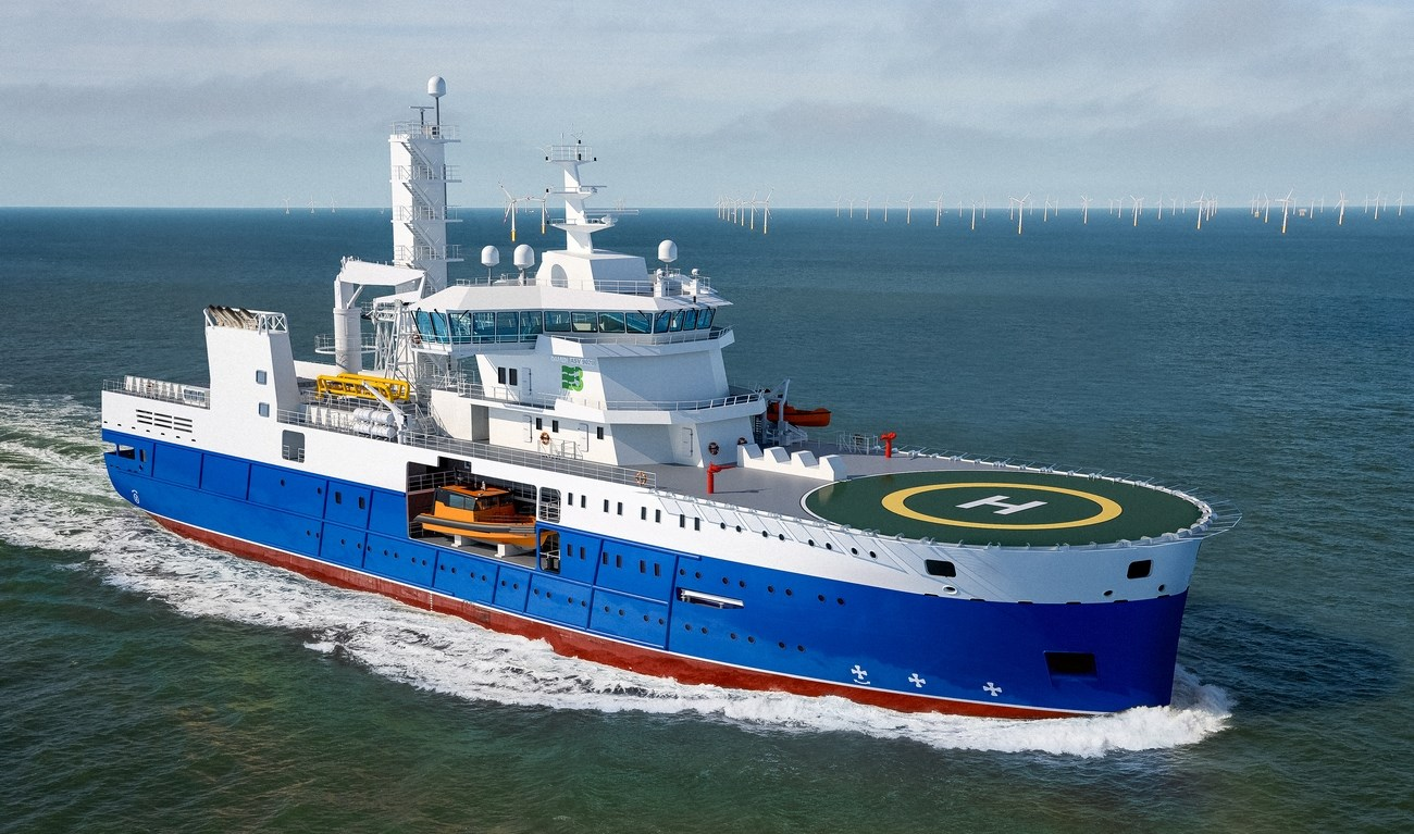 Windfarm Support Vessel designed for the North Sea area of operation