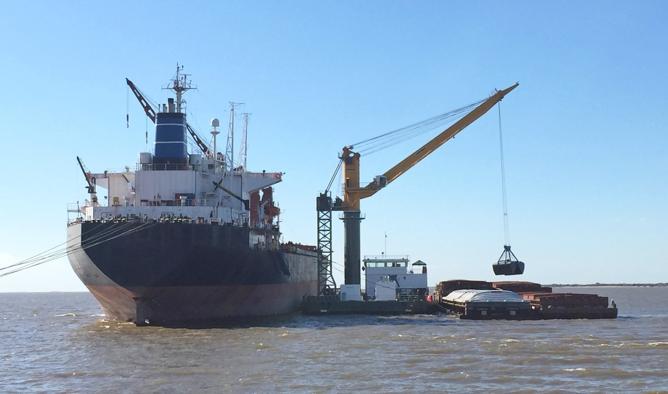 FOR TRANSSHIPMENT OF DRY-BULK, CONTAINERS AND BREAK BULK CARGOS