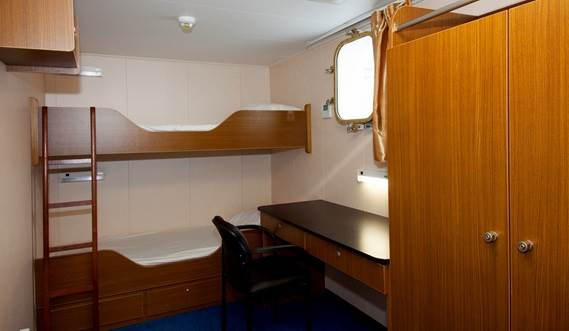 Modern, spacious and comfortable air conditioned accommodation is provided for 12 crewmembers in line with the latest European standards.