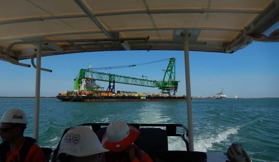 Damen can deliver turn-key sollutions with additional equipment like tugs, crewboats and pontoons