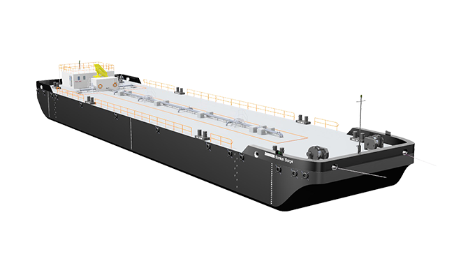 The Bunker Barge is designed for the transport of bulk liquids and can provide exceptional flexibility and independence through its various pre-designed options.