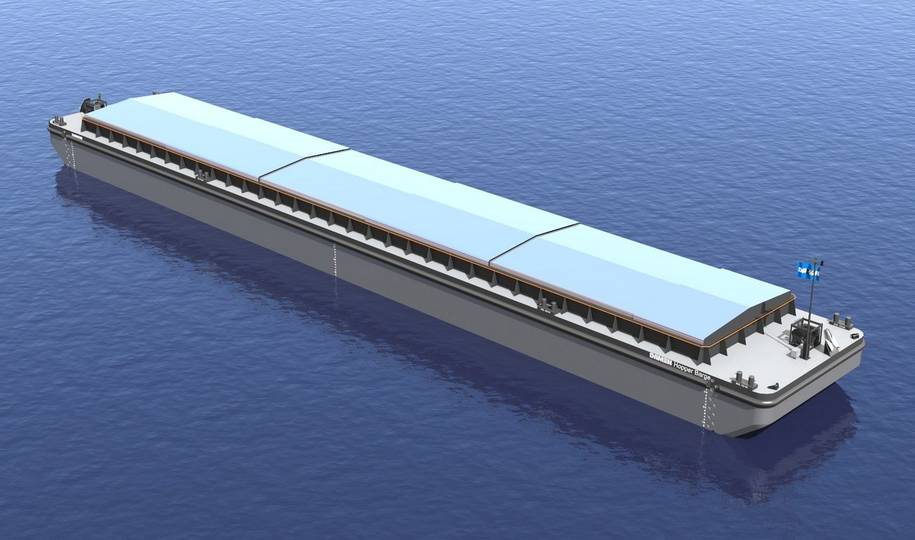 Hopper Barges can be used for the transport of dry bulk cargo or anything else that can be stored inside a cargo bin.