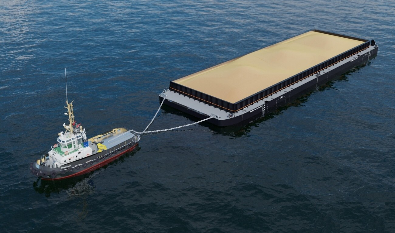 20 M Beam Container Barge With Unrestricted Navigation