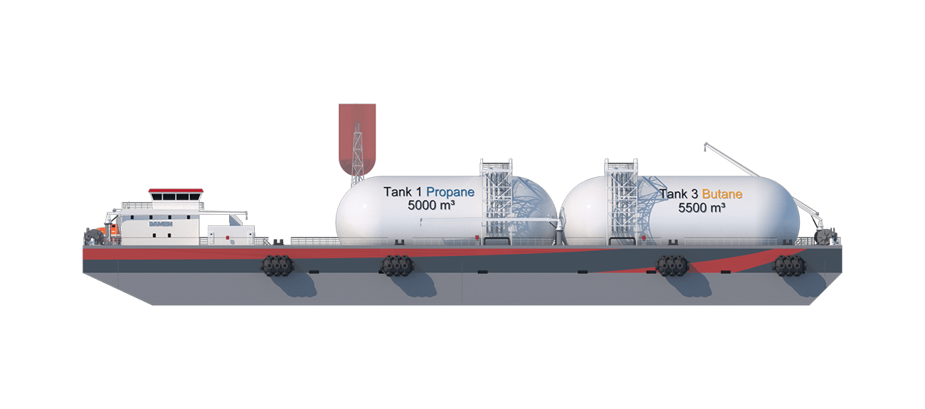 The cargo tank and their supporting systems are supplied by well-known and reputable subcontractors