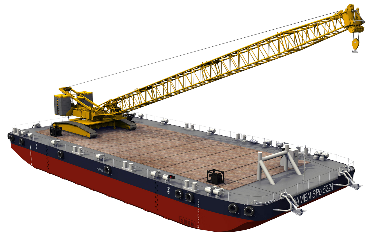 IDEAL PONTOON TO USE IN COMBINATION WITH A MOBILE CRANE
